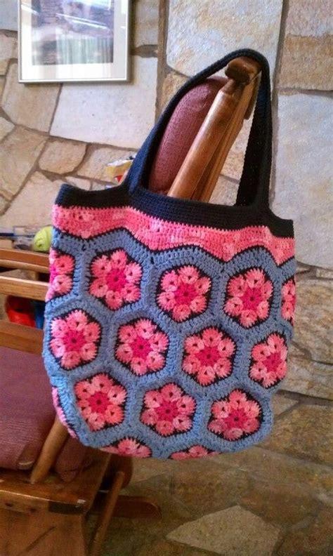 african flower crochet pattern bag crochet african flower tote african flowers granny