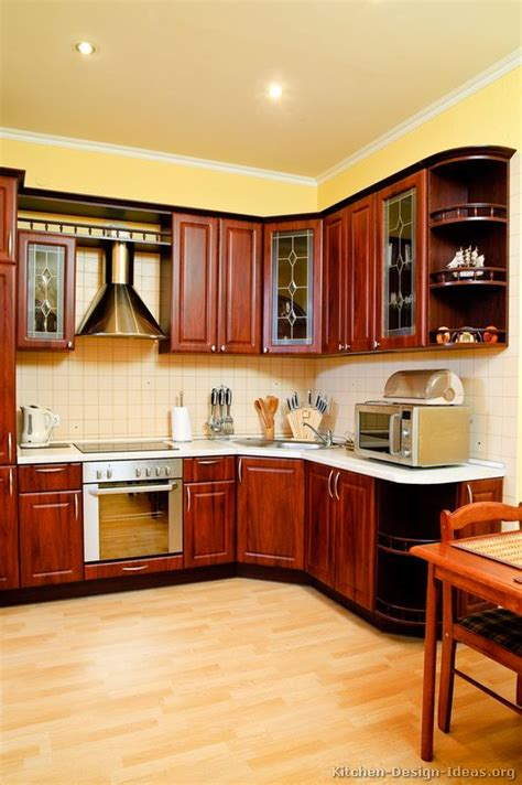 Granite With Cherry Cabinets In Kitchens Pictures Of Kitchens Traditional Medium Wood Cherry