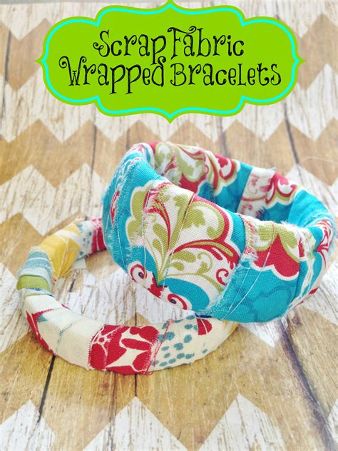 fabric craft ideas for diy scrap fabric wrapped bracelets kid s craft gift