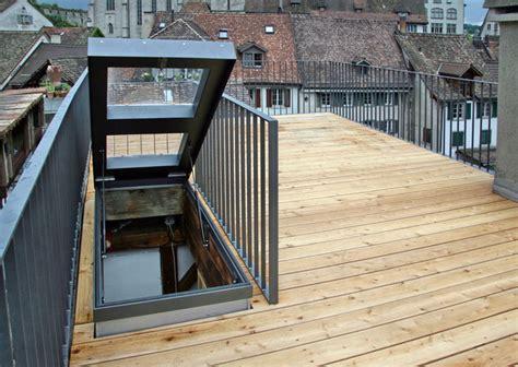 Dachterrasse Ausstieg by Metall Werk Z 252 Rich Ag Dachterrasse Mit Dachausstieg
