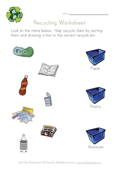 kindergarten activities without materials recycling worksheet sorting by materials i m