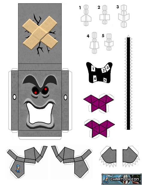 Mario Kart Papercraft - mario enemy whomp craft s mario and enemies