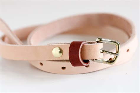 diy leather belt tutorial tandy leather giveaway