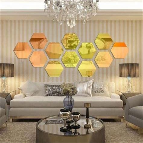 Wall Decoration 20cm X 20cm House modern style acrylic large 20cm hexagon mirrors 3d wall sticker corridor sofa home decoration