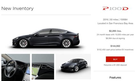 tesla offering model  pd inventory cars