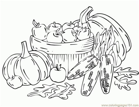 autumn harvest coloring pages free printable coloring page fall harvest natural world
