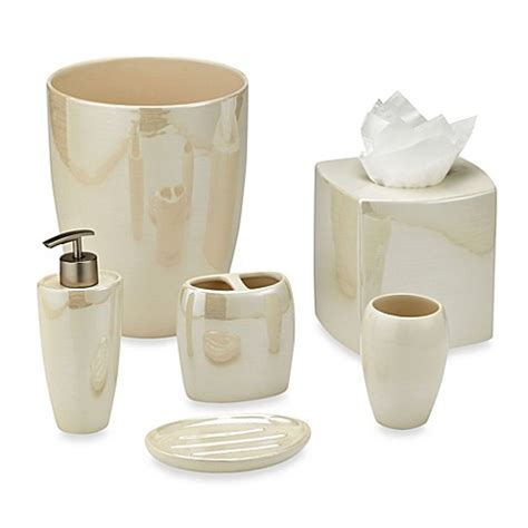 stoneware bathroom accessories akoya pearlized ceramic bathroom accessories in ivory