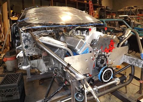 lsx motor plate project blownz s winter chassis build up at pmr race cars