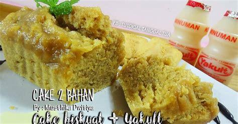 membuat probiotik yakult resep cake bolu 2 bahan biskuat yakult dapur kreasi