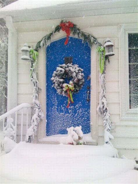 Front Door Winter Decorating Ideas by Front Door Decorations