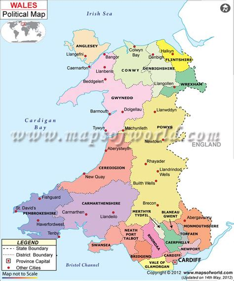 map of wales political map of wales wales wales map of