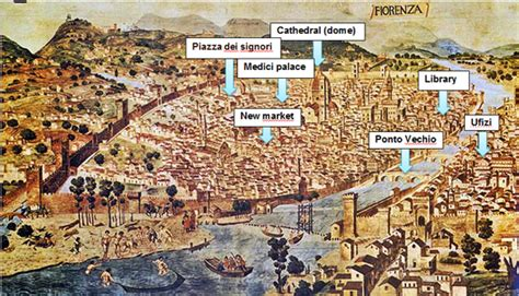 Florence Sets 2in 1 annotated map of florence the renaissance
