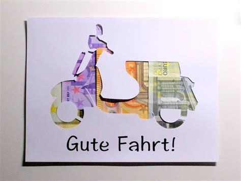 Geldgeschenk Motorrad Basteln by Die Besten 25 Gutschein Basteln Motorrad Ideen Auf