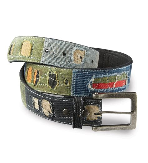 Patchwork Belt - bill lavin dungaree patchwork belt
