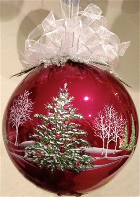 5 quot hand painted burgundy glass ornament with quality