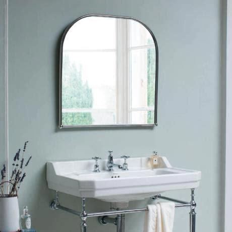 curved bathroom mirror burlington curved mirror with chrome frame victorian