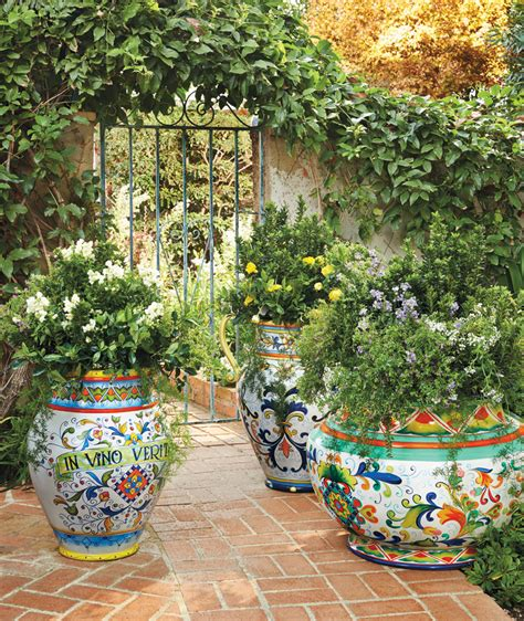 italian inspired painted planters frontgate live