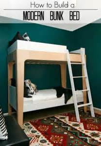 Modern Bunk Bed pneumatic addict how to build modern bunk beds