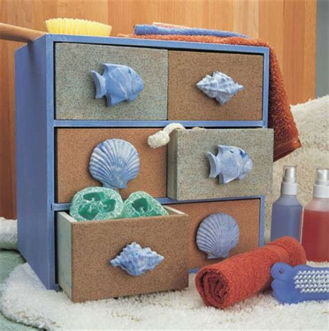 bathroom craft ideas home dzine craft ideas sea themed bathroom storage