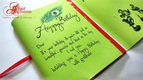 Birthday Gift Handmade - birthday gift card ideas for beautiful handmade