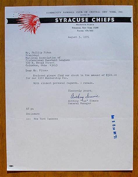 Sports Artifacts Vintage Baseball Letters Baseball Letterhead