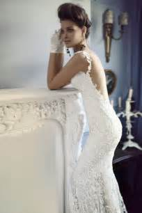 wedding dress lace open back open back lace wedding dress with beadng onewed