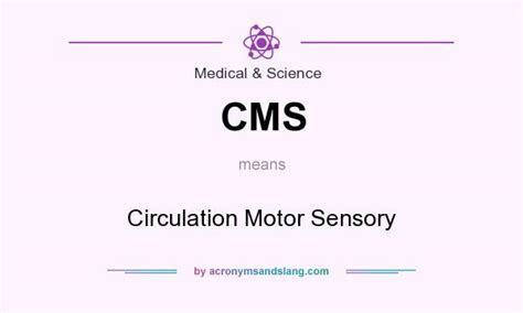 cms circulation motor sensory in science by
