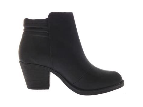 biker ankle boots womens chelsea biker ankle boots block heels faux leather