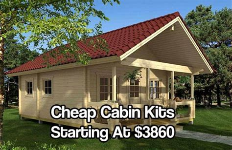 Garage Plans With Cost To Build by Cheap Cabin Kits Starting At 3860 Shtf Amp Prepping Central