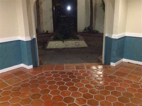 superior saltillo tile floor refinishing restoration without messy machines