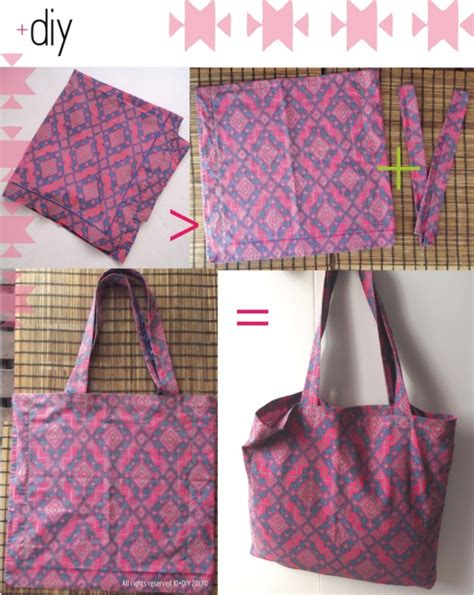 pattern for pillowcase tote bag tote bag by idplusdiy project sewing bags purses