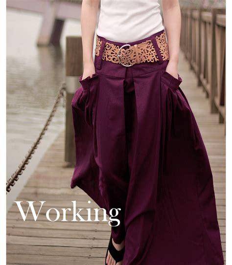 funky linen maxi skirt vintage skirts on luulla