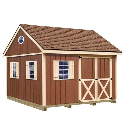 metal shed kits best barns belmont 12 ft x 20 ft wood storage shed kit with floor including 4 x 4 runners