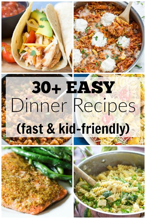 30 easy dinner recipes for your busiest days kristine