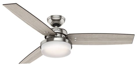 exeter led ceiling fan 52 quot brushed nickel chrome ceiling fan sentinel 59157