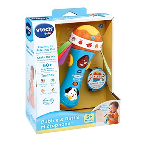 vtech baby rattle and sing puppy vtech baby babble and rattle microphone import it all