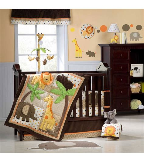carters crib bedding sets s safari 4 crib bedding set