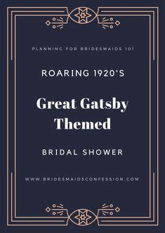 Sho Gatsby great gatsby inspired bridal shower favor tag by