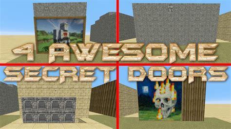 How To Make Simple Secret Door In Minecraft