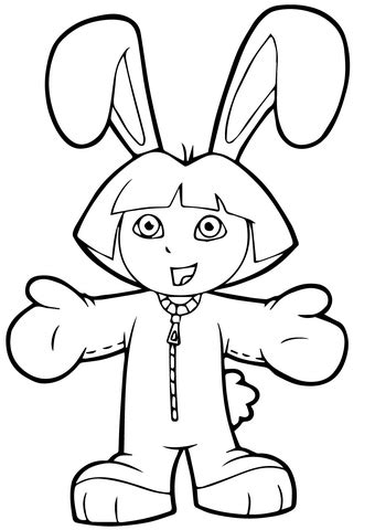 simple dora coloring pages dora pictures to color and print kids coloring page