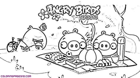 angry birds halloween coloring pages picnic