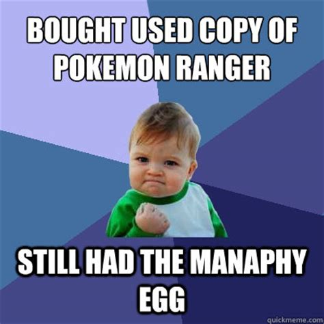 Pokemon Kid Meme - bought used copy of pokemon ranger still had the manaphy