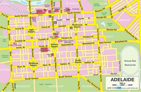 printable map adelaide suburbs adelaide australia cruise port of call