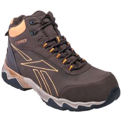 athletic hiking shoes reebok composite toe waterproof brown athletic hiking