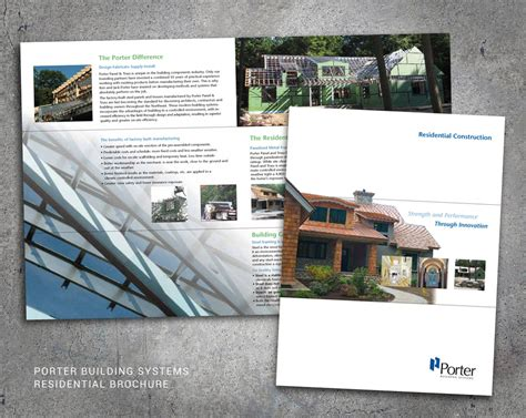 residential layout brochure wood and company a portland maine graphic design website