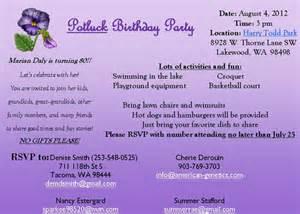 Birthday Program Outline by 80th Birthday Program Sle