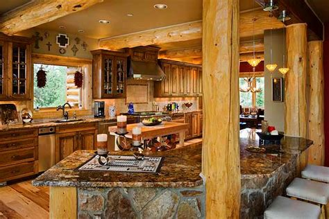 log home open floor plan kitchen luxury log cabin homes today s log homes for advantageous and luxurious living