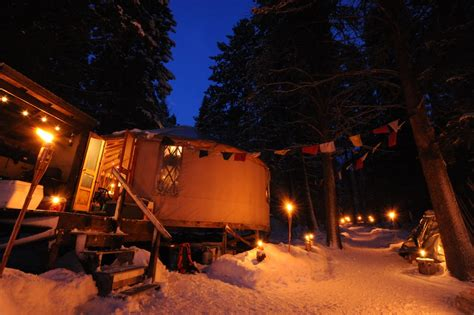 moon to moon cing season part 1 yurts winter is magical at idaho s yurts and cabins here s proof