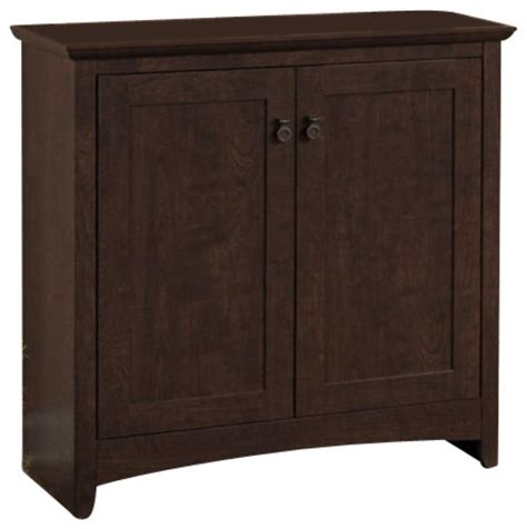 Accent Storage Cabinet Bush Buena Vista 2 Door Low Storage Cabinet In Cherry Transitional Accent Chests And