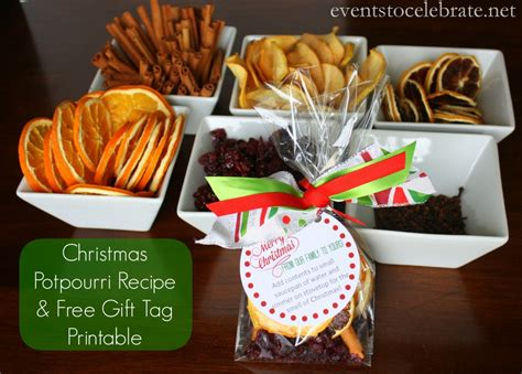 homemade christmas potpourri recipe free printable gift